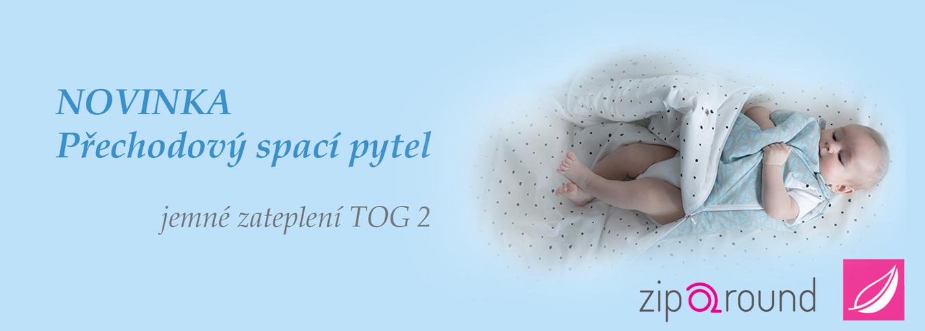Dětské spací pytle pro přechodné období Zip a Round